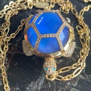 Kate Spade locket turtle long necklace! Whimsical!